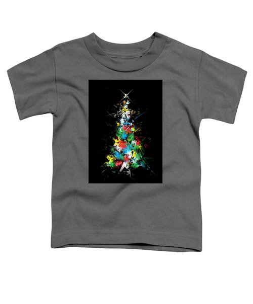 Happy Holidays - Abstract Tree - Vertical Toddler T-Shirt