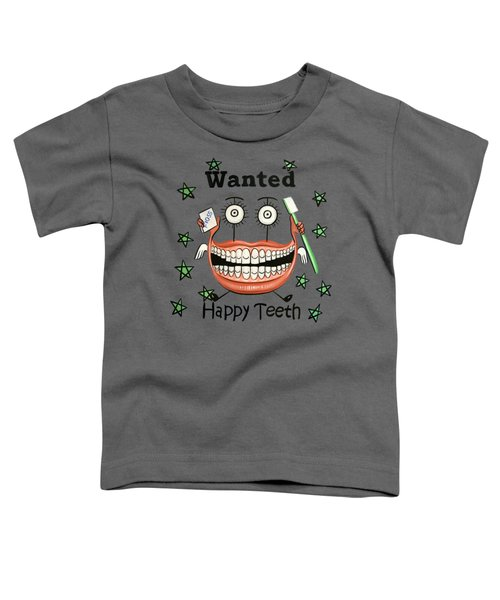 Happy Teeth T-shirt Toddler T-Shirt