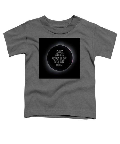 Harbine Nebraska Total Solar Eclipse August 21 2017 Toddler T-Shirt