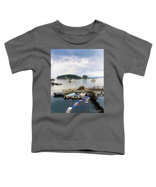 Harbor At Georgetown Five Islands, Georgetown, Maine #60550 Toddler T-Shirt