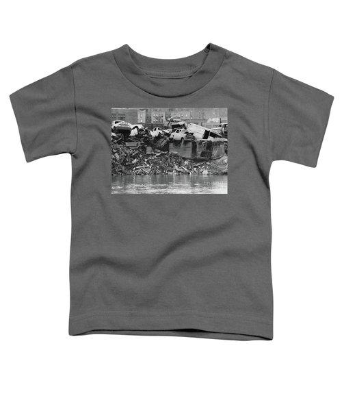 Harlem River Junkyard, 1967 Toddler T-Shirt by Cole Thompson