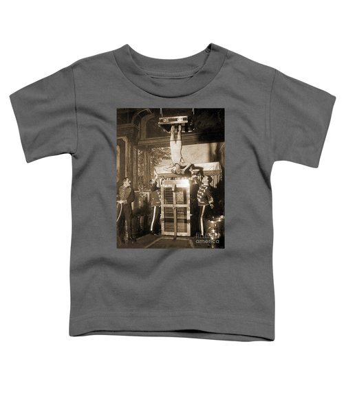 Harry Houdini Suspended Above A Tank Of Water  Toddler T-Shirt