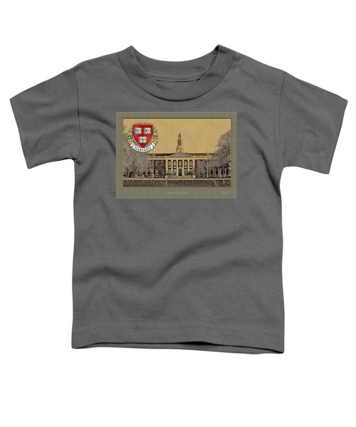 Harvard University Building With Seal Toddler T-Shirt