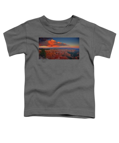 Harvest Moon Over Bryce National Park Toddler T-Shirt