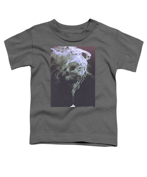 Toddler T-Shirt featuring the painting Haunted Smoke  by Tithi Luadthong