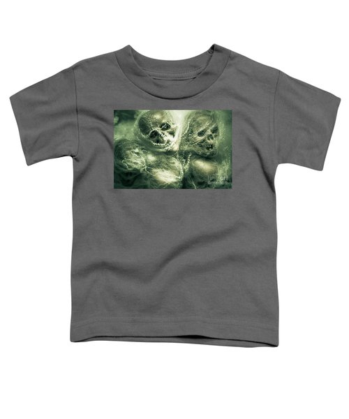 Haunted Undead Skeleton Heads Toddler T-Shirt