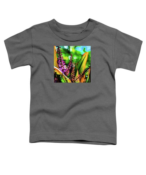 Hawaii Ti Leaf Plant And Flowers Toddler T-Shirt