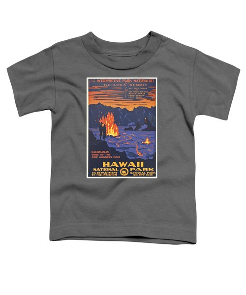 Hawaii Vintage Travel Poster Toddler T-Shirt by Georgia Fowler