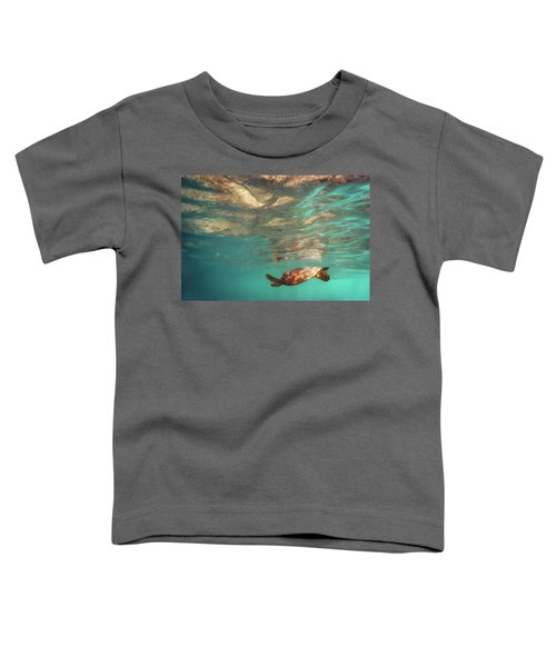 Hawaiian Turtle Toddler T-Shirt