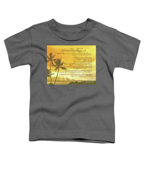 Hawaiian Wedding Blessing-sunset Toddler T-Shirt
