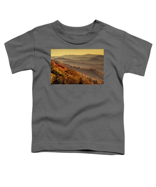 Hazy Sunny Layers In The Smoky Mountains Toddler T-Shirt
