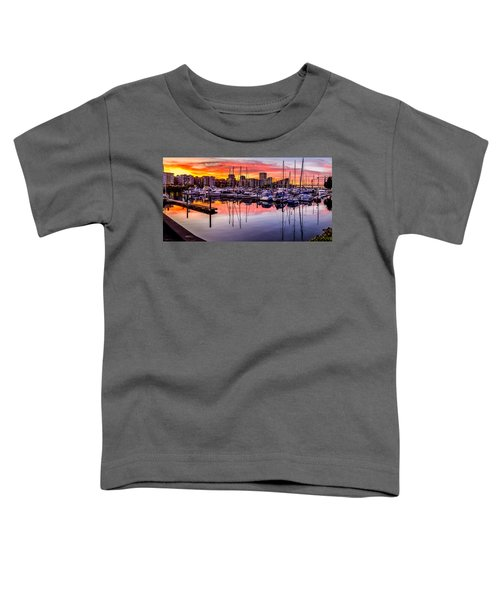 Hdr Sunset On Thea Foss Waterway Toddler T-Shirt