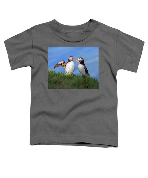 He Went That Way Toddler T-Shirt by Betsy Knapp