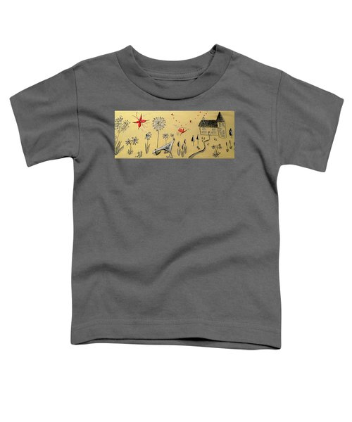 Heart Cottage Red 2 Toddler T-Shirt by Kathy Spall