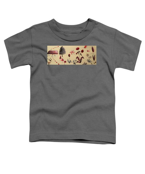 Heart Cottage Red 3 Toddler T-Shirt by Kathy Spall