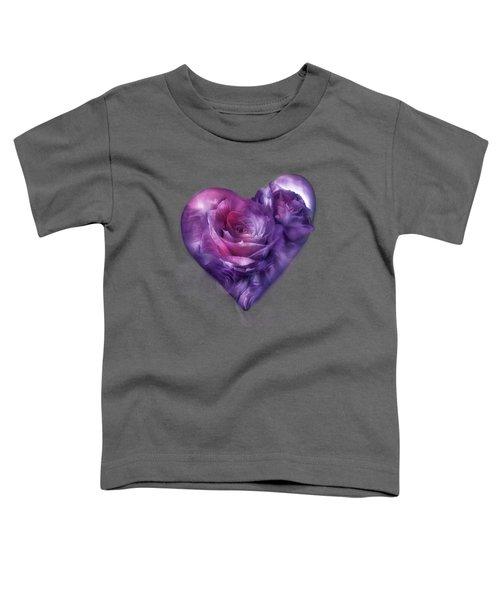 Heart Of A Rose - Burgundy Purple Toddler T-Shirt
