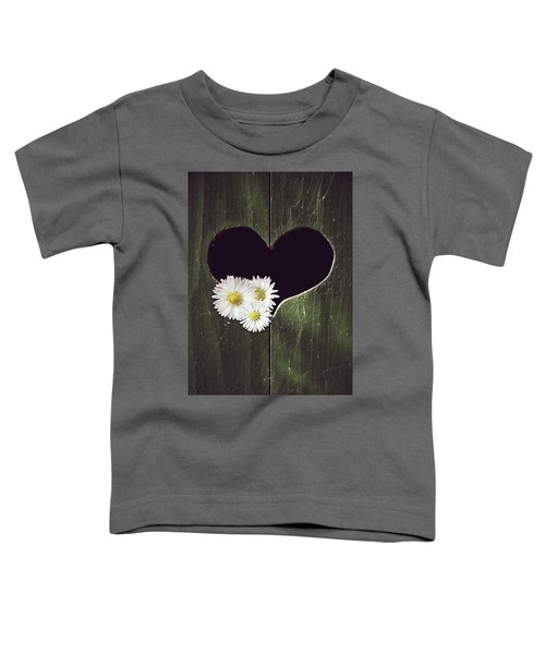 Heart With Daisies Toddler T-Shirt
