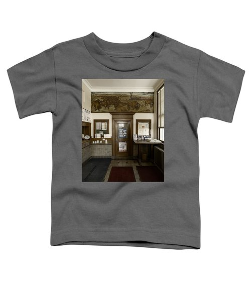 Hebron Nebraska Post Office Mural Toddler T-Shirt