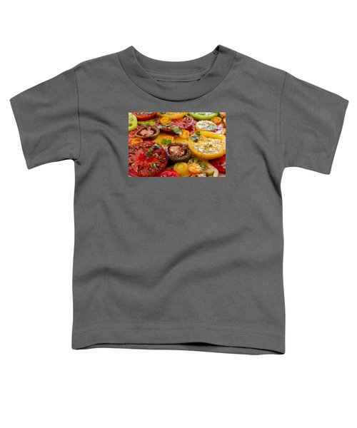 Heirloom Tomatoes With Basil Toddler T-Shirt
