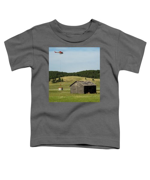 Helicopter Dips Water At Heliwell Toddler T-Shirt