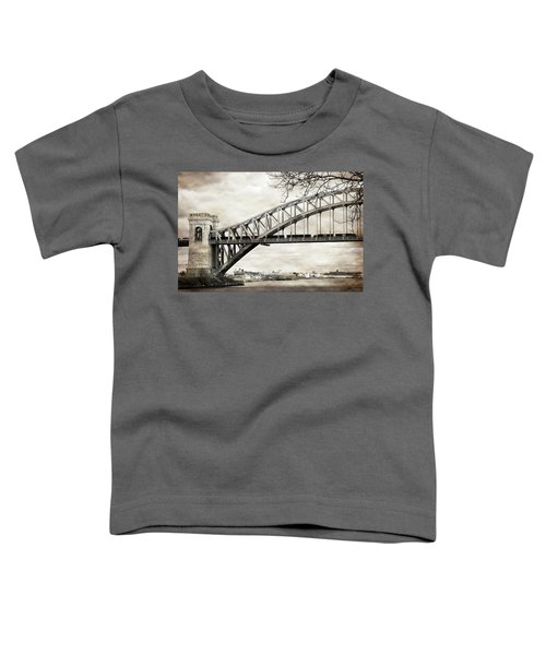 Hellgate Bridge In Sepia Toddler T-Shirt