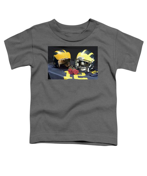 Helmets Of Different Eras With Jersey And Roses Toddler T-Shirt