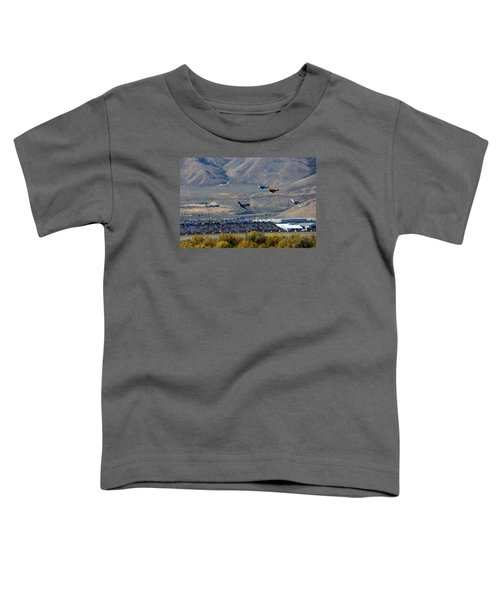 Here's Looking Back At You.  T6 Race. Toddler T-Shirt