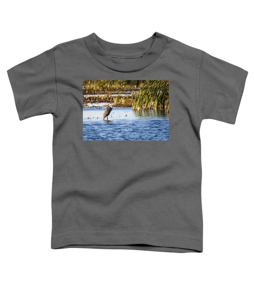 Heron - Horicon Marsh - Wisconsin Toddler T-Shirt