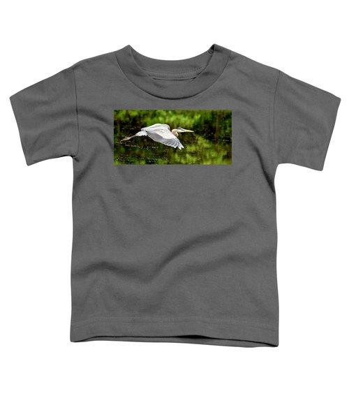 Heron In Flight Toddler T-Shirt