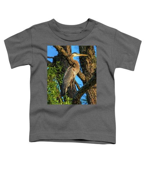 Heron In The Pine Tree Toddler T-Shirt