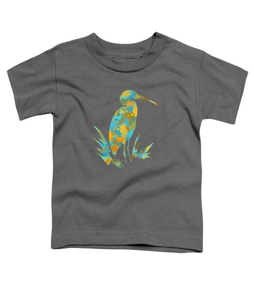 Heron Watercolor Art Toddler T-Shirt