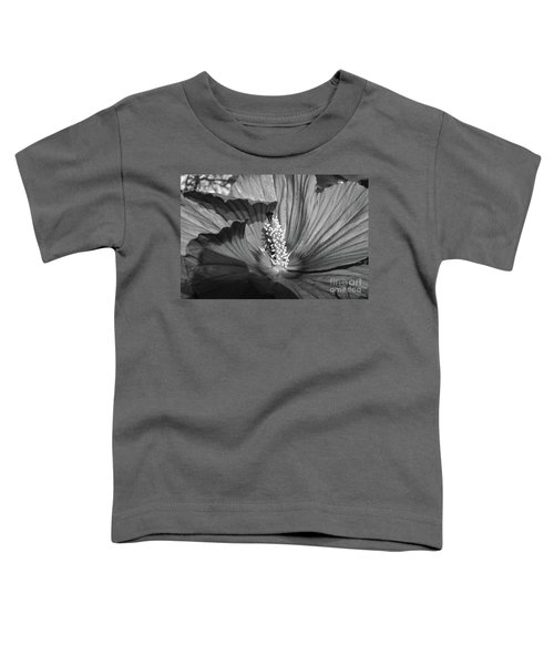 Hibiscus Black And White Toddler T-Shirt