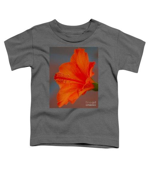 Hot Orange Hibiscus Toddler T-Shirt