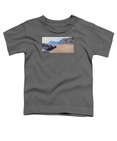 Toddler T-Shirt featuring the painting High Peak Cliff Sidmouth by Lawrence Dyer
