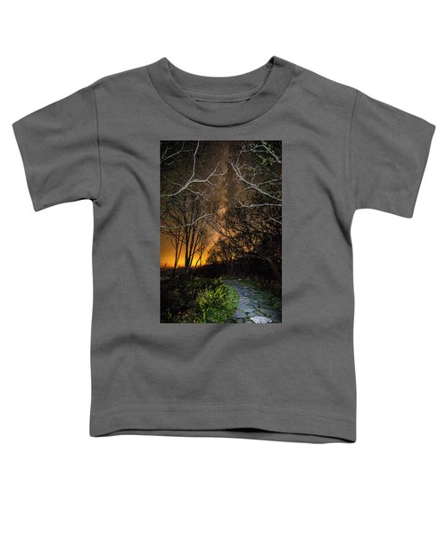 Hiking The Milky Way Toddler T-Shirt