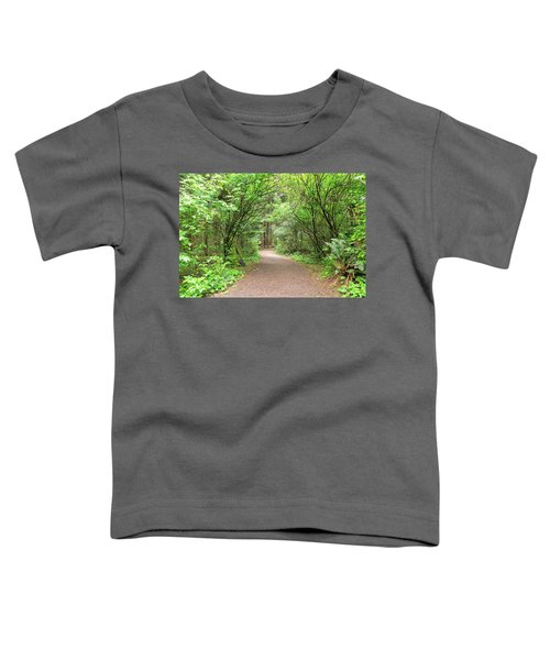 Hiking Trail Along Lewis And Clark River Toddler T-Shirt