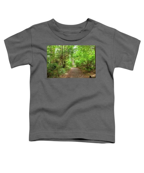 Hiking Trail Through Forest Along Lewis And Clark River Toddler T-Shirt