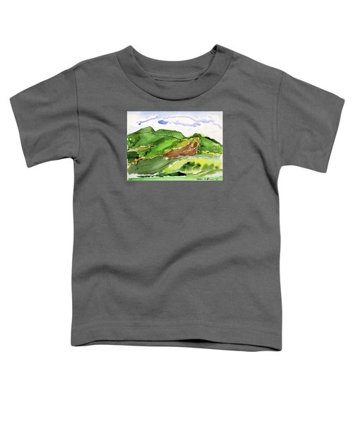 Hillside And Clouds Toddler T-Shirt