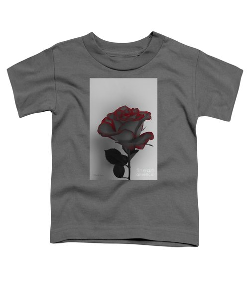 Hints Of Red- Single Rose Toddler T-Shirt