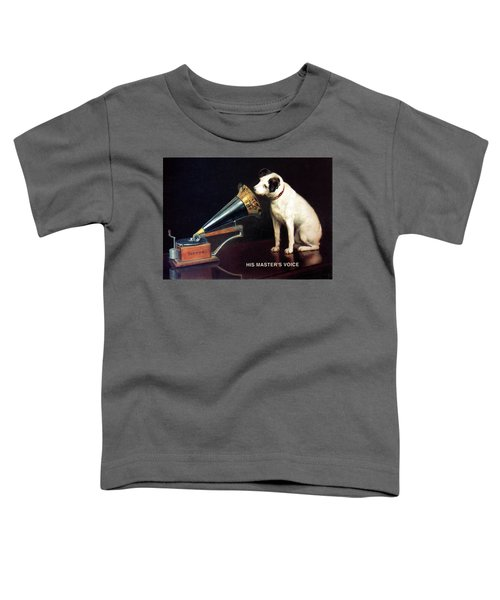 His Master's Voice - Hmv - Dog And Gramophone - Vintage Advertising Poster Toddler T-Shirt