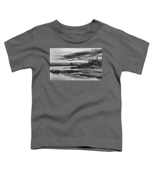 Historic Whitebog Landscape Black - White Toddler T-Shirt
