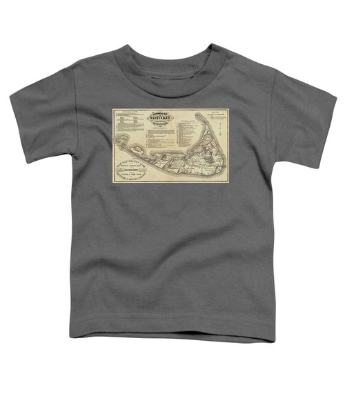 Historical Map Of Nantucket From 1602-1886 Toddler T-Shirt