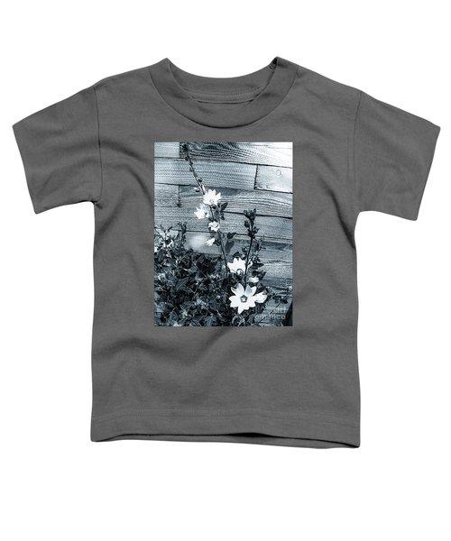 Hollyhock Alcea Rosea Roseneibisch Bw Toddler T-Shirt