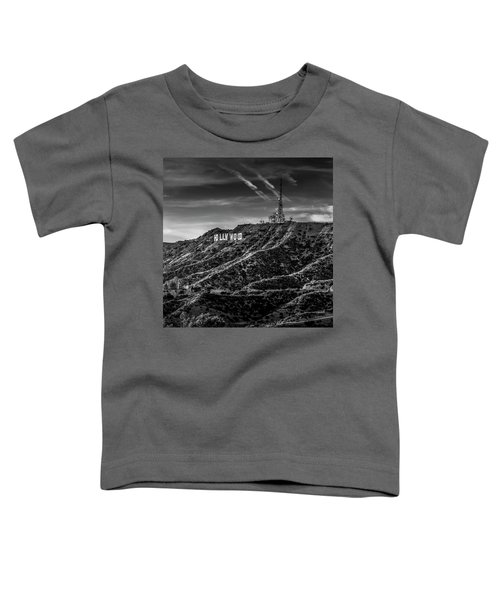 Hollywood Sign - Black And White Toddler T-Shirt