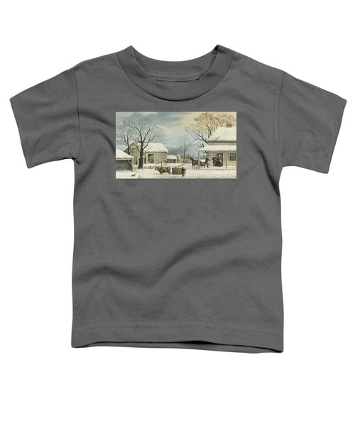 Home To Home To Thanksgiving, 1867 Toddler T-Shirt