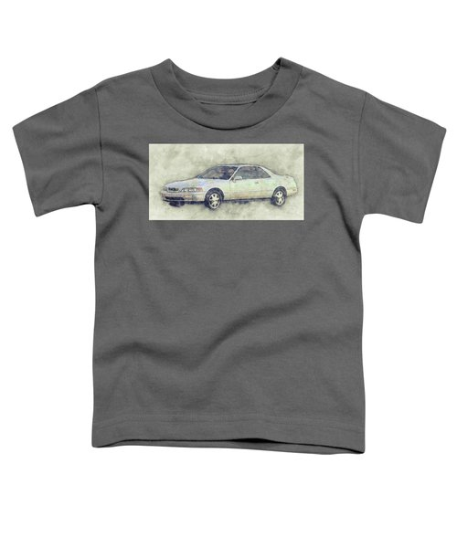 Honda Acura Legend 1 - Executive Car - 1985 - Automotive Art - Car Posters Toddler T-Shirt