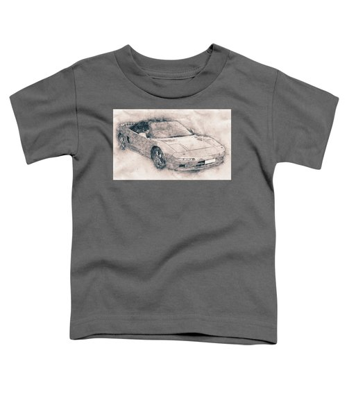 Honda Nsx - Acura Nsx - Sports Car - Automotive Art - Car Posters Toddler T-Shirt
