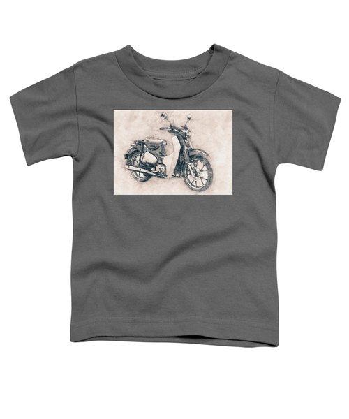 Honda Super Cub - Motor Scooters - 1958 - Motorcycle Poster - Automotive Art Toddler T-Shirt