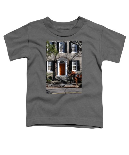 Horse Carriage In Charleston Toddler T-Shirt