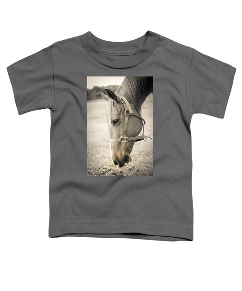 Horse Eating In A Pasture Toddler T-Shirt